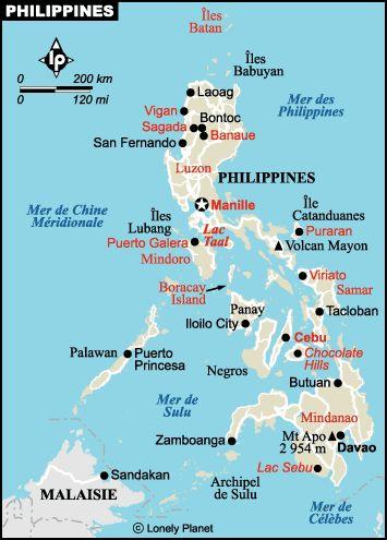Philippines Carte Philippines Voyage Philippines Et Les Philippines