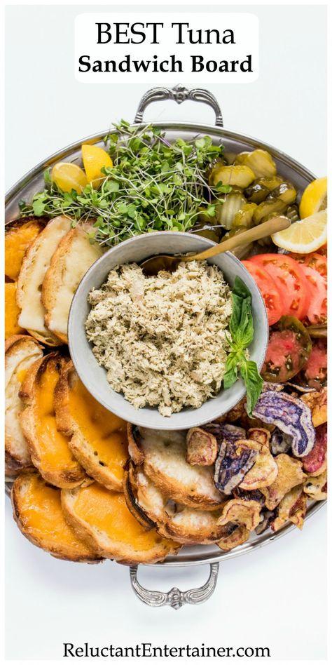 Best Tuna Sandwich Board #tunasandwich #tunasandwichboard #luncheonboard #reluctantentertainer