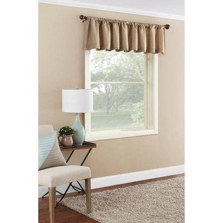 Mainstays Textured Solid Curtain Valance Walmart Com Solid Curtains Curtains Curtain Valance