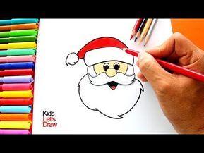 Aprender A Dibujar A Papa Noel Muy Facil How To Draw Santa Claus Very Easy Youtube Papa Noel Dibujo Papa Dibujo Cara De Papa Noel