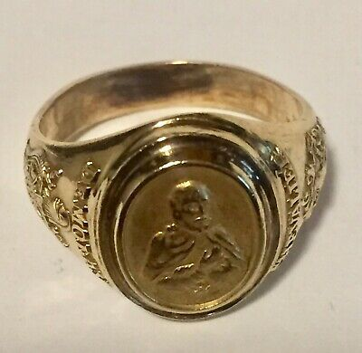 VINTAGE sterling silver masonic demolay chevalier ring size 11