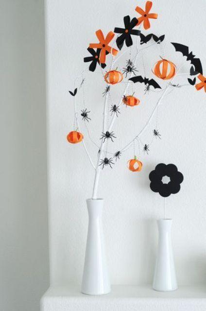 Classy Minimal Halloween Decor Ideas Paper Halloween Decorations Chic Halloween Decor Halloween Decorations