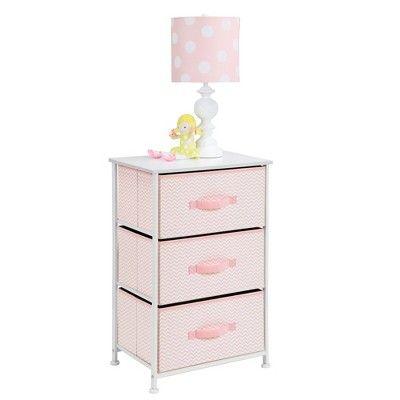 ... mDesign Fabric Baby 3-Drawer Dresser and Storage Organizer Unit for Nursery