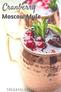 We love this quick and easy cranberry mule recipe while ..., #celeryjuice #cranberry #Easy #Love #moscowmule #mule #Quick #recipe