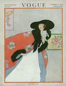 Illustration Photograph - A Vintage Vogue Magazine Cover Of A Woman by Helen Dryden