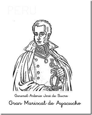 Peru Colorear Batalla De Ayacucho General De Sucre Batallas