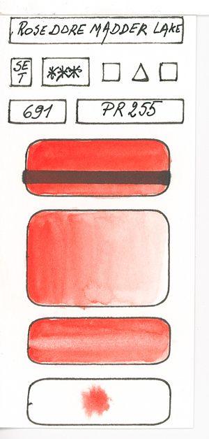 Red Pigmented Watercolour Paints Aquarellistes Peinture