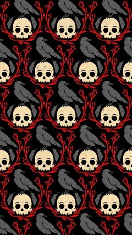 8 Tumblr Halloween Wallpaper Backgrounds Gothic Wallpaper Skull Wallpaper
