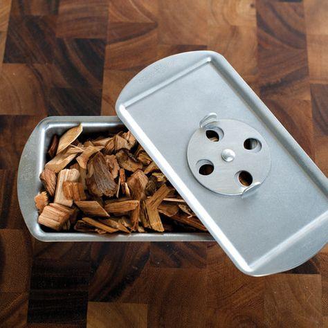 Wood Chip Smoker Box Bbq Grates Baking Utensils Grillin