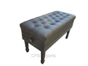 Adjustable Duet Size Genuine Leather Artist Concert Piano Bench Stool In Ebony Piano Bench Best Piano Cowhide Cushions