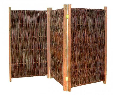 PARAVENT 120 cm hoch - Raumteiler aus Weide Paravant Pinterest