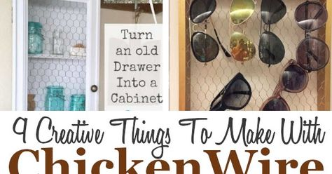 DIY Chicken Wire Projects. #DIYHSH #DIYProjects #Farmhouse #Rustic