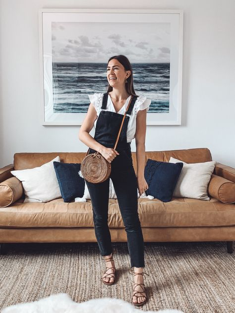 5 Ways to Wear Black Overalls for Spring