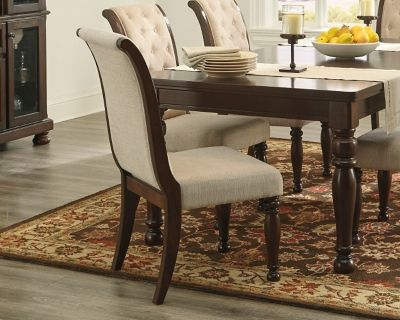 Porter Dining Room Chair Set Of 2 Rustic Brown Dining Room