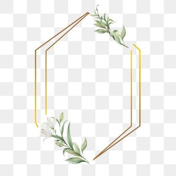 Leaf And Frames With Golden S Frame Wedding Watercolor Png And Vector With Transparent Background For Free Download Flower Frame Frame Border Design Watercolor Flower Wreath