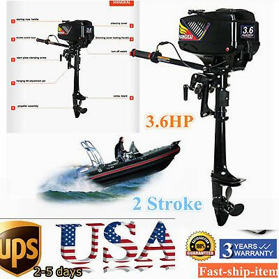 Sponsored Ebay Hangkai 3 6hp 2 Stroke Outboard Motor Boat Engine Water Cooling System Fish Boat In 2020 Outboard Motors Boat Engine Outboard
