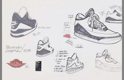 338afddf33e Nike Air Jordan III - 25 Must-See Design Sketches of Your Favorite Sneakers    Complex
