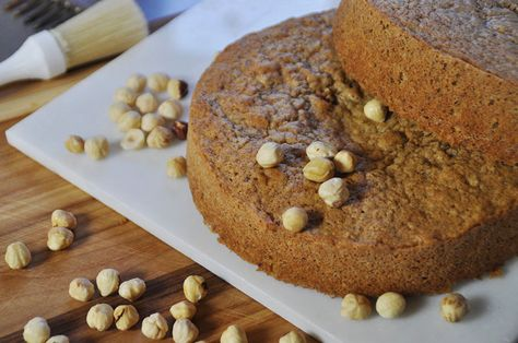 Delicious browned butter hazelnut genoise cake, step by step tutorial