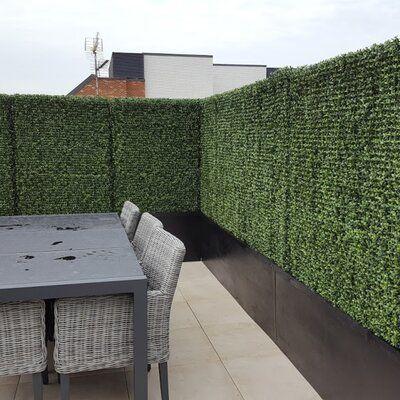 E Joy 3 3 Ft H X 3 3 Ft W Milan Polyethylene Fence Panel Artificial Hedges Fence Design Backyard