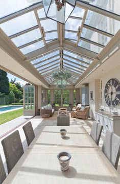 Conservatory With Foldings Doors.