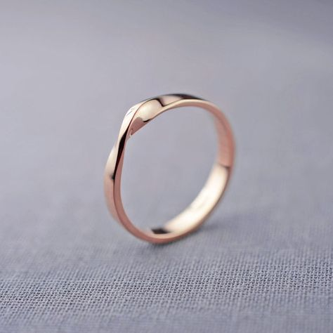 14K Rose Gold Mobius Ring 14K Rose Gold by LilyEmmeJewelry