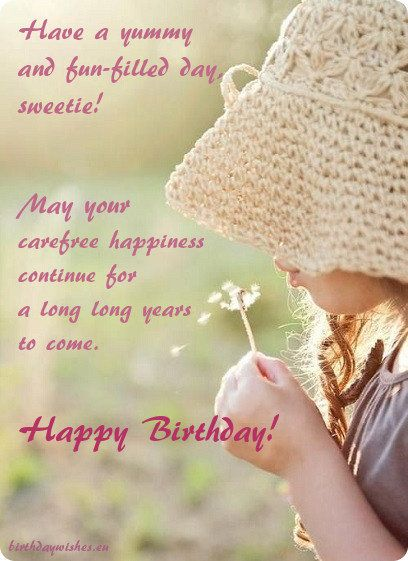 Birthday Greeting For Little Girl Baby Birthday Wishes Happy