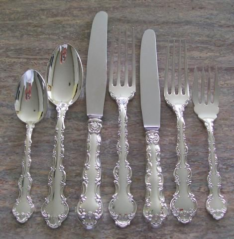 Gorham CHANTILLY Sterling Silver Luncheon 5 piece plate setting *FRENCH BLADE*