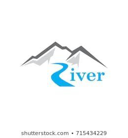 abstract mountain river logo vector river logo logos vector logo abstract mountain river logo vector