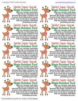 Santas-Super-Special-Magic-Reindeer-Food-Kit-459638 Teaching Resources - TeachersPayTeachers.com