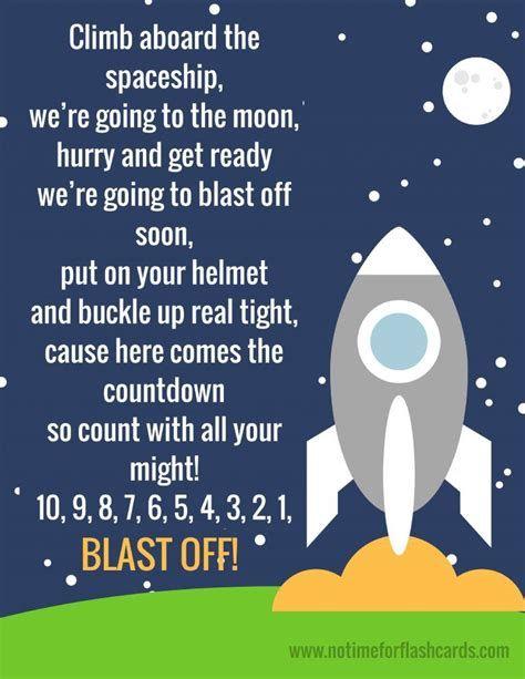 Rocket Songs For Preschoolers Space Fingerplay For Preschool Free