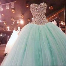 Sparkly Turquoise Quinceanera Dress 2015 Sweetheart Beaded Corset Sweet 16 Dresses Tulle Quinceanera Dress Ball Gowns New(China (Mainland))