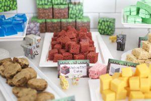 14 ideas para tu fiesta de #Minecraft en casa @enmicocinahoy