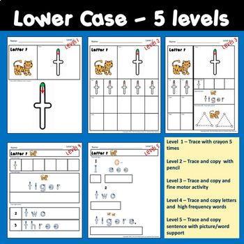 Morning Worksheets For Handwriting For Special Education 5 Different Levels Of Worksheets For Each L Handwriting Analysis Learn Handwriting Special Education Handwriting analysis worksheet