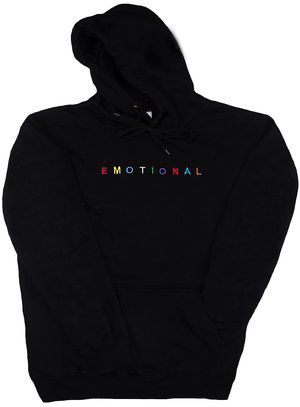 8d1e571ebcb7 Black Emotional Hoodie   Hoodie in 2019   Sweater hoodie, Cool ...
