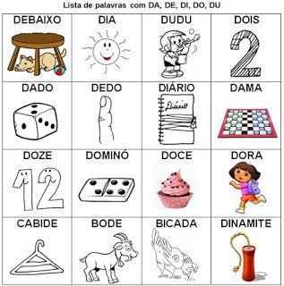 Lista De Palavras Com Silabas Simples Para Imprimir Lista De