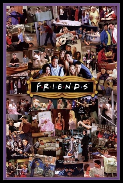 Friends Tv Show Cast, Serie Friends, Friends Moments, Friends Forever, Collage Poster, Poster Prints, Poster Poster, Posters, Art Print