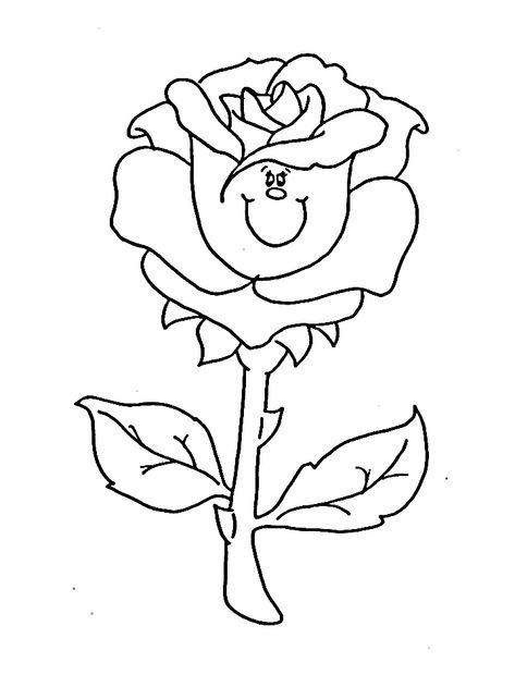 Http Www Coloring Ws Flowers Rose Gif Boyama Kitaplari Resim