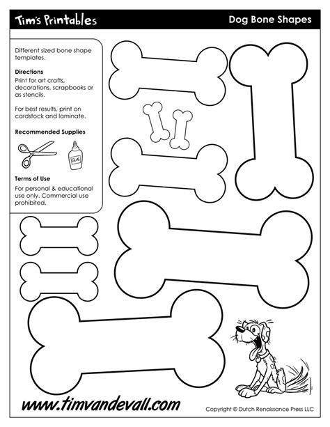 Dog Bone Template Printable Bone Crafts Dog Crafts Arts And Crafts Projects