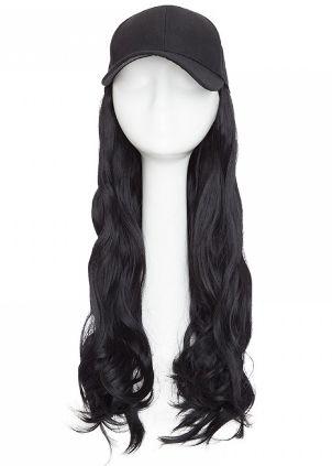 Baseball Hat Wig - Straight / Platinum Blonde