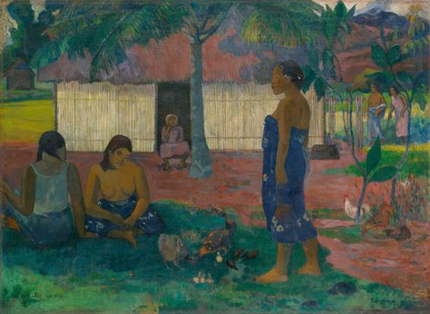 """Paul Gauguin (1848-1903), """"Why Are You Angry?"""" (""""No Te Aha Oe Riri"""") - The Art Institute of Chicago ~ Chicago, Illinois, USA"""