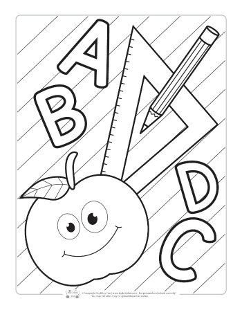 Back To School Coloring Pages For Kids Itsybitsyfun Com School Coloring Pages Free Kids Coloring Pages Coloring Pages For Kids
