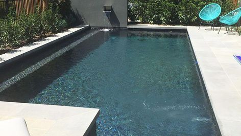 GREY POOL TILES LAGUNA POOLS | GALLERY | Melbourne Pool Builders, Concrete  Pools, Landscaping, Melbourne, Australia #PoolLandscapingIdeas