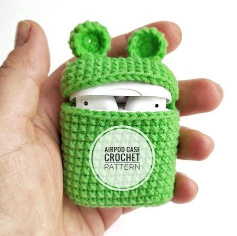 Airpod case Crochet Pattern Airpod case Frog Crochet Pattern