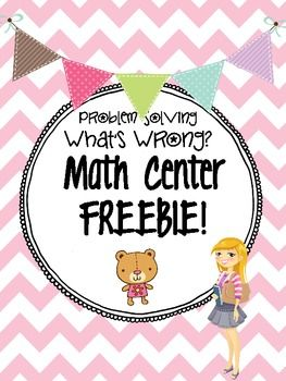 """Freebie!!! Check out this sample center for Math! Problem solving skills, perfect for 'analyzing' and explaining your answer.  Sample from my """"Third Grade Math Centers By strategy: All 10"""" check out my TPT for more details!"""