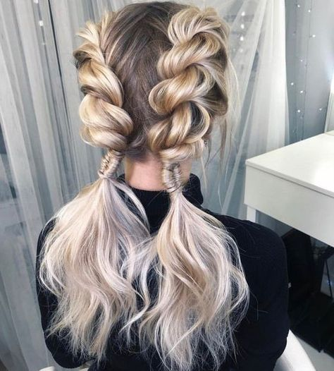 31 Best Trendy And Beautiful Twisted Rope Braid Blonde Hairstyle For Long Hair 💖 - Haircut 20