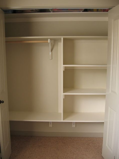 Closet Shelving DIY - I so need to do this to a few of my ...