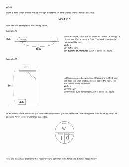Introduction To Energy Worksheet New Conservation Of Energy
