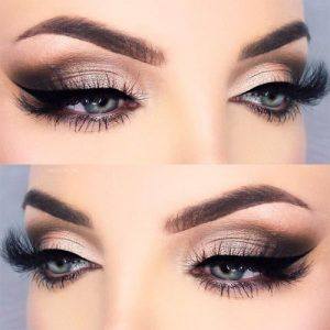 Grey Smokey Eye Looks For Blue Eyes Natural Shimmer Eyebrow