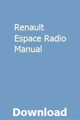Renault Espace Radio Manual Curriculum Mapping Manual Guided Writing