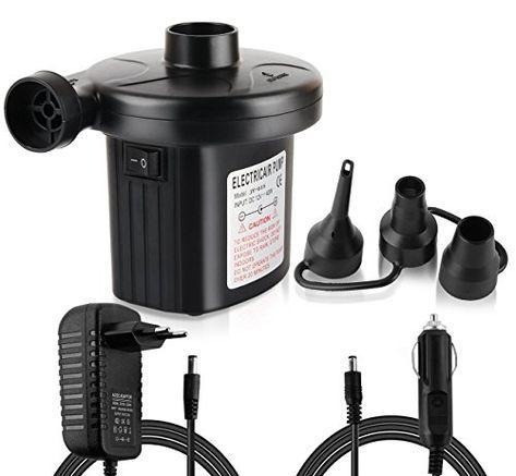 Deflator For Airbeds Pools Universal Valves UK Plug Electric Air Pump Inflator